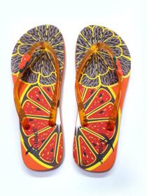 Women Orange Fruit's Comfort Flip Flop