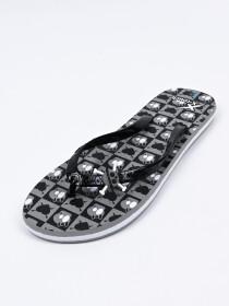 Women DK-Grey & Black Comfort Flip Flop