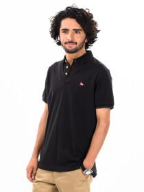 Men's Black Iconic Mesh Regular Fit Short Sleeve Polo Shirt