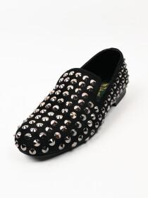 TA Premium & Classic Men's Suede Charcoal Black Leather Shoes