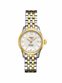 Le Locle Automatic Small Lady (25.30) watch silver dial with yellow gold & grey bracelet