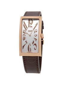 Heritage Banana Centenary Edition Men's watch silver dial with brown leather strap