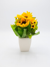 Artificial Sunflower Pot