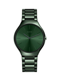 Rado True Thinline Green Dial Men's Watch