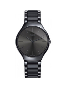 Rado True Thinline Black Dial Men's Watch