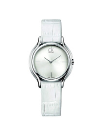 Calvin Klein  - Skirt Watch for Women - Silver (Brand Warranty)