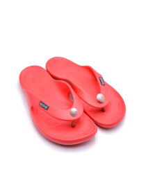 RED-BLACK-WHITE MEN'S FLIP-FLOPS