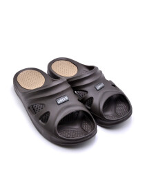 DK-BROWN-CHAMPAGNE-MENS CASUAL SLIDES