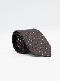 Pindot Ground  Microfibre Polyester Tie