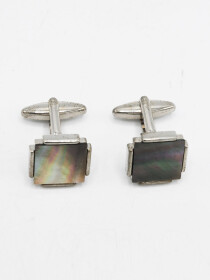 Silver and Multi Catseye Cufflinks