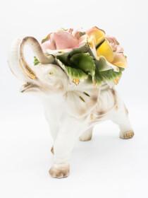 Porcelain Flower Elephant
