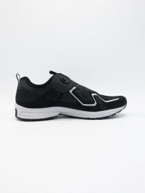 Men's Running Shoe with Self-Tying Laces Black/White