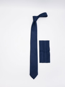 Square- & Medallion-pattern Jacquard Necktie