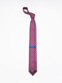 Men's Square- & Medallion-pattern Jacquard Necktie
