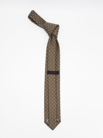 Enterprise Dot Brown Men's Tie