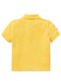 Cotton Mesh Polo Shirt - Yellow