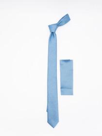 Sky Blue Slim Microfibre polyester Tie