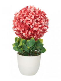 Artificial Flower Pot White Base