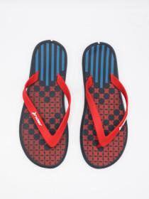 MEN RED-BLACK & BLUE FLIP-FLOPS