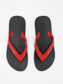 MEN BLACK & RED FLIP-FLOPS