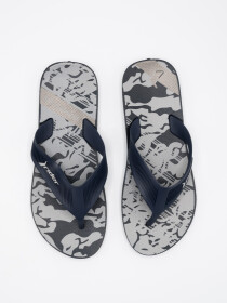 MEN WHITE-GREY & BLACK FLIP-FLOPS