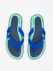 MEN NAVY-GREEN & BLUE FLIP-FLOPS