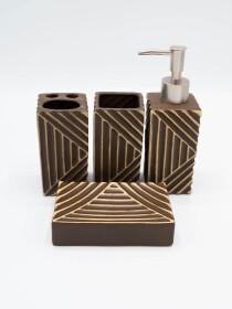 Bathroom Set Lines Design 4Pcs Set
