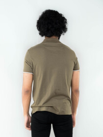 LAYERED MOCK POLO SHIRT