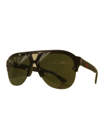 Semi Rimless Pilot Sunglasses