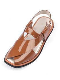 Brown Peshawari Chappal for Ladies