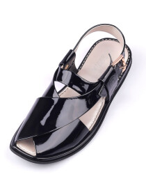 Black Peshawari Chappal for Ladies