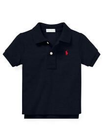 Infants - Cotton Mesh Polo Shirt - Navy