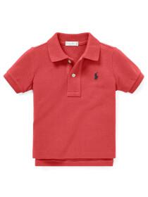 Infants - Cotton Mesh Polo Shirt - NANTUCKET RED