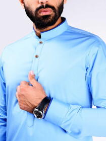 SLIM FIT KURTA SKY BLUE