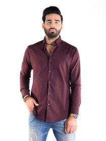 CUSTOM FIT SHIRT MAROON
