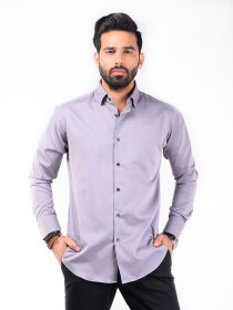 CUSTOM FIT SHIRT CHARCOAL GINGHAM CHECK
