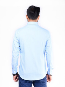 CUSTOM FIT SHIRT SKY BLUE