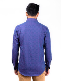 CUSTOM FIT  SHIRT D DK PURPLE