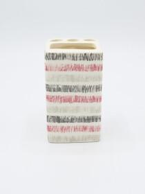 Bathroom Set Multicolor Stripes Design 4Pcs Set