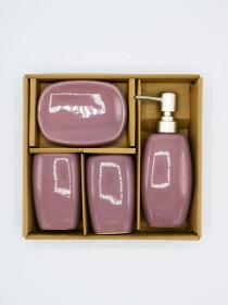 Bathroom Set Purple Color 4Pcs Set