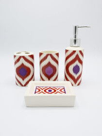 Bathroom Set Multicolor Design 4Pcs Set
