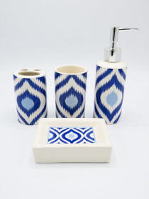 Bathroom Set Blue Color Fancy 4Pcs Set
