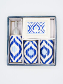 Bathroom Set Blue Color Fancy 4Pcs Set