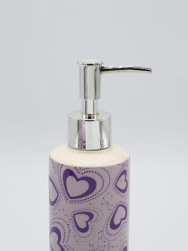 Bathroom Set Heart Design Purple Color Fancy 4Pcs Set