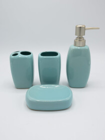 Bathroom Set Sky Color 4Pcs Set