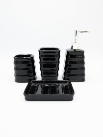Bathroom Set Black Color 4Pcs Set