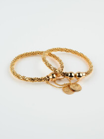 Gold Plated Solid Adjustable Bracelet