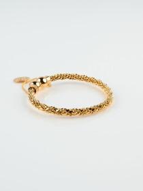 Gold Plated Solid Adjustable Bracelet