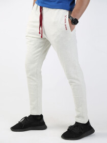 Off White Solid Slim Fit Joggers