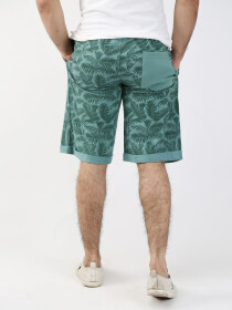 Green Printed Regular Shorts